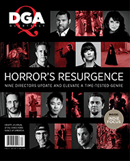 DGA Quarterly Magazine Fall 2018 Cover