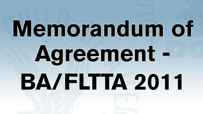 DGA Memorandum of Agreement BA/FLTTA 2011