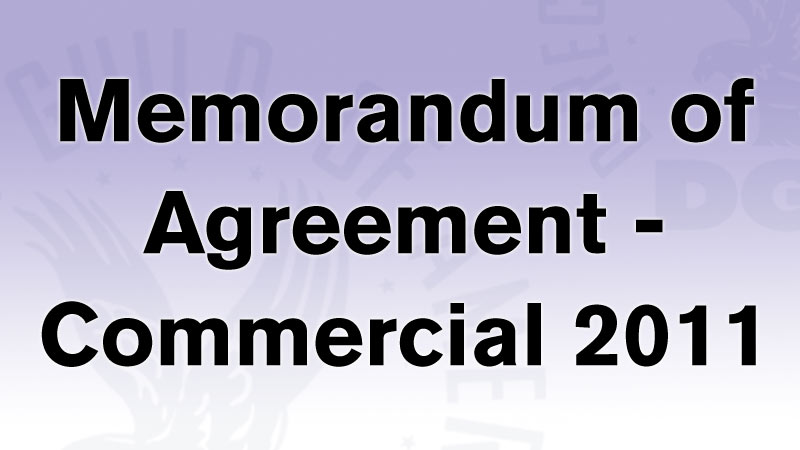 Memorandum of Agreement Commercial Contract 2011