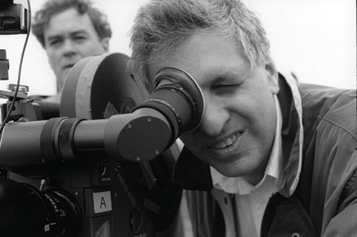 Errol Morris shoots his Oscar-winning film