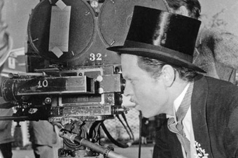 TOP HAT: Welles goes from behind the camera to his wedding scene in Citizen Kane.