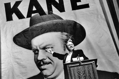 Citizen Kane: Welles as Charles Foster Kane on the campaign trail.