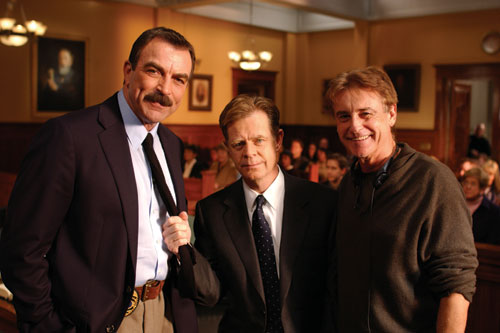 ON TRIAL: Mike Robe with Tom Selleck and William Macy on Reversible Errors.