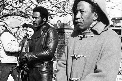 ROLE MODEL 1: Richard Roundtree and Parks on the set of Shaft. - photo © Warner Bros.