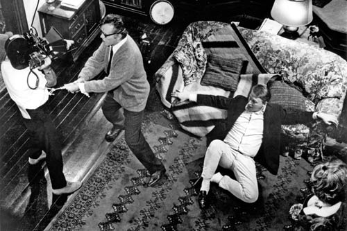 IN MOTION: Nichols has Richard Burton, attached to DP Haskell Wexler, swing around the room in Who's Afraid of Virginia Woolf? (1966). - photo courtesy Academy of Motion Picture Arts and Sciences
