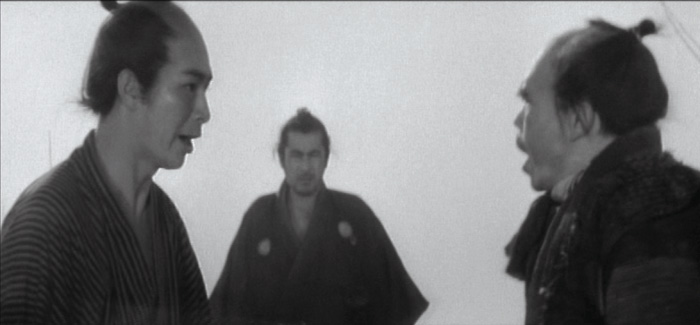 DIRECTOR'S VISION: Kurosawa's masterful composition creates four sight lines in a meeting with a warlord and his scheming wife. - photo courtesy Criterion Collection