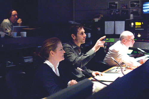 AKE ONE: Director and Executive Producer Frank Valentini (pointing) assisted by Associate Director Mary Ryan. - Photo: Steve Fenn/ABC