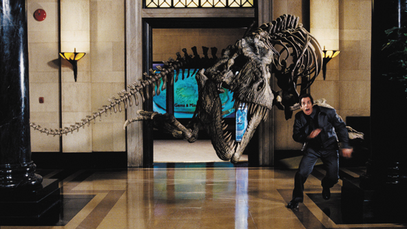 AFTER HOURS: Ben Stiller is a night guard at a natural history museum trying to cope with strange doings in Night at the Museum. - photo by Rhythm & Hues