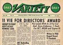 Variety Headline 1969 DGA Awards