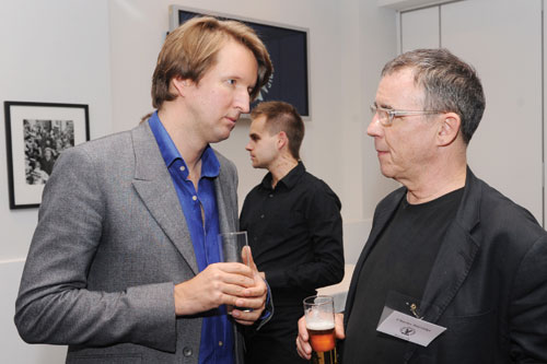 LCC's Tom Hooper with Directors UK President Charles Sturridge.