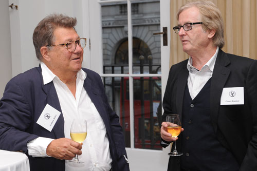 Directors Graham Baker and Franc Roddam enjoy the LCC reception.