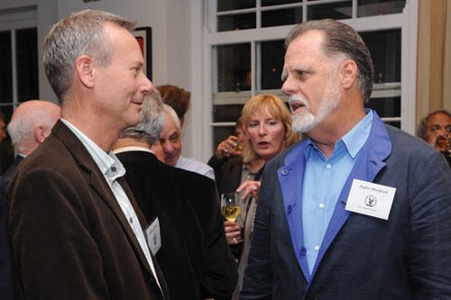 Directors UK CEO Andrew Chowns chats with DGA President Taylor Hackford.