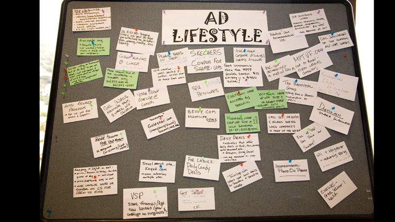 Notes from the Lifestyle group's board.