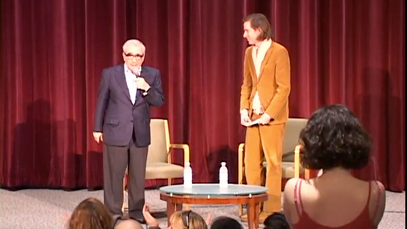 Director Martin Scorsese with moderator Wes Anderson in New York.
