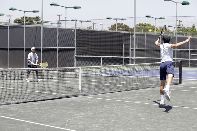 DGA Tennis Tournament players enjoy a few sets at the Los Angeles Tennis Club.