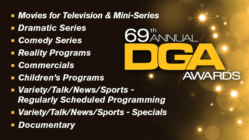 DGA Awards Television, Commercials and Documentary Nominees Announced