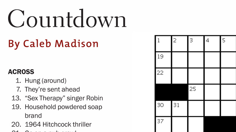 DGA Quarterly Crossword Puzzle Summer 2012