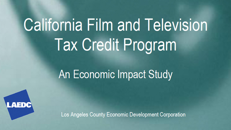 California Tax Credit Program Study Report