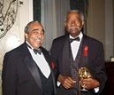 Honoree Congressman Charles B. Rangel with Ossie Davis.
