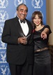 Rosie Perez and Congressman Rangel backstage at DGA Honors 2002.