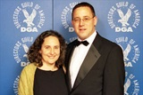 Helena Prigal and DGA Eastern Executive Director Russell Hollander.