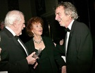 2003 DGA Honoree Robert Altman, Kathryn Reed and 2003 Film Preservation Award-winner Curtis Hanson celebrate backstage.