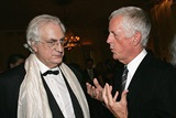 DGA Honoree Bertrand Tavernier and DGA President Michael Apted compare notes. (Photo by Evan Agostini/Getty Images)