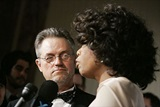 DGA Honoree Jonathan Demme (who directed Winfrey in Beloved) listens to her speech. (Photo by Peter Kramer/Getty Images)