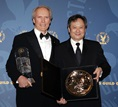 Side-by-side with Lifetime Achievement Award Recipient Clint Eastwood.