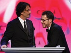The Coens make their way to the stage.