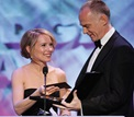 Amy Ryan presents the Dramatic Series Night Award to Alan Taylor.