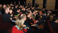 The DGA Theatre Two audience enjoys the screening of the nominated commercials