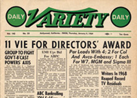 DGA Quarterly Variety Cover 1949 Directors Awards