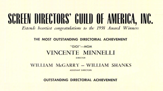 1958 Awards - Vincente Minnelli