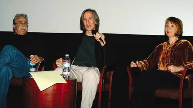 DGA Movies for Television Award nominee Jeff Bleckner, moderator Mick Garris and nominee Jane Anderson.
