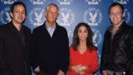 2007 DGA Documentary Award nominee Richard E. Robbins, DGA President Michael Apted, moderator Lynne Littman, and nominee Asger Leth
