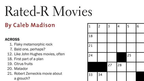 DGA Q Crossword Puzzle R-Rated Movies