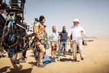 Ridley Scott on set of The Martian