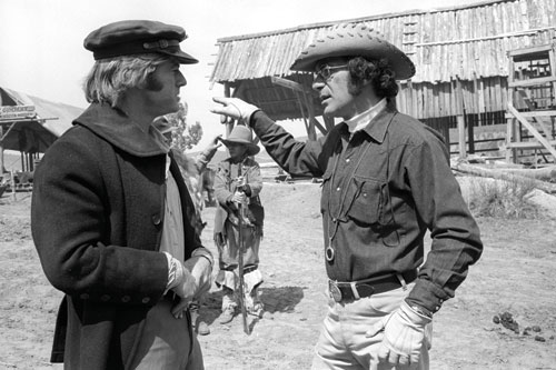 Jeremiah Johnson (1972): Pollack and Robert Redford on location in Utah. - photo courtesy Warner Bros. Pictures.