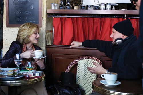 DOUBLE LATTE: Tim Van Patten directing Edie Falco. He has directed 17 episodes, more than anyone else.- Photo: Jacques Le Goff/HBO