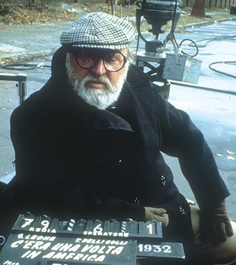 Director Sergio Leone in 1984-photo:The Ladd Company