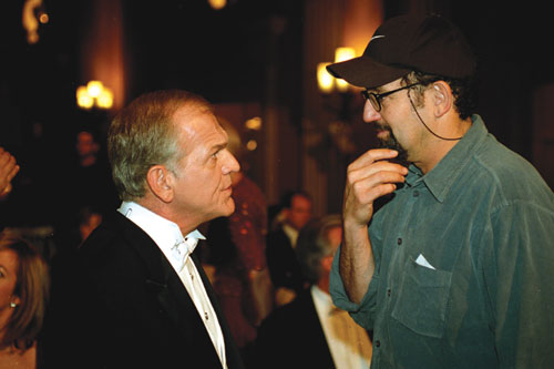 CAPITOL HILL: Thomas Schlamme (right) directs the late John Spencer on The West Wing. - Photo courtesy Warner Bros