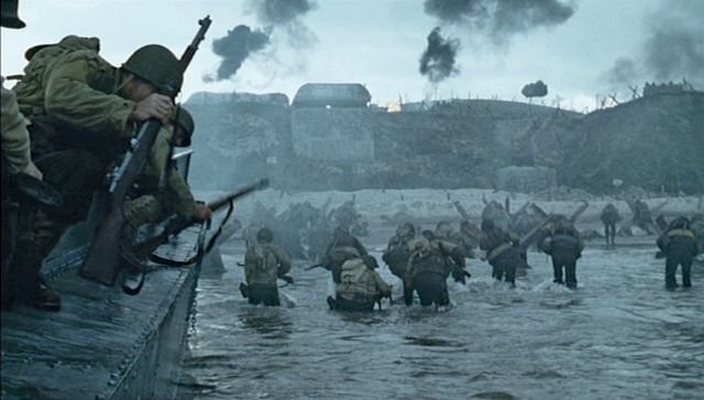 saving private ryan opening scene essays Saving private ryan essayswhen i watch this movie, i think of a game of chess   in the first scene, the first soldiers to get off the boat get killed, and these would .