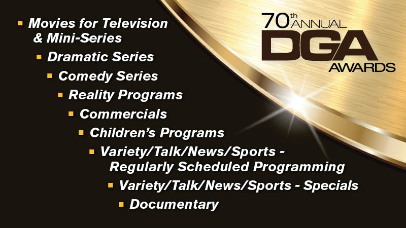 DGA 70th Awards Television Nominees Announced