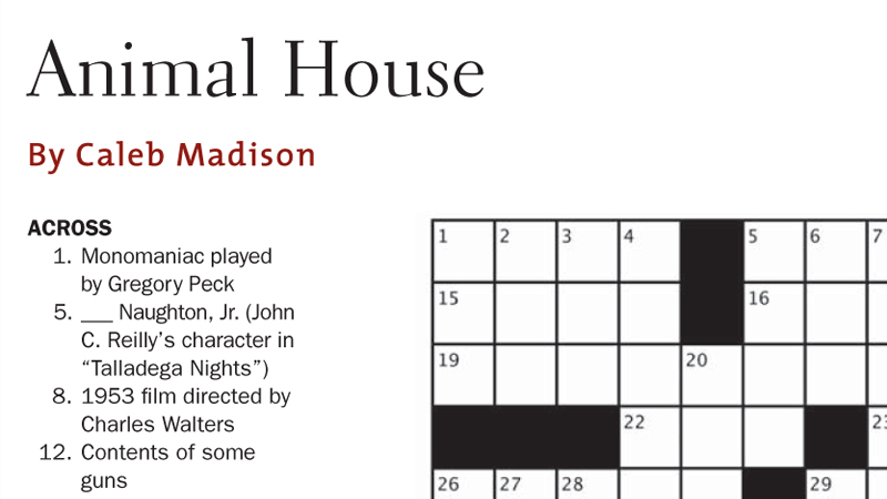 DGA Quarterly Summer 2011 Crossword