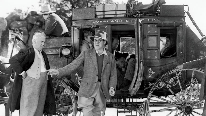 John Ford on the set of Stagecoach