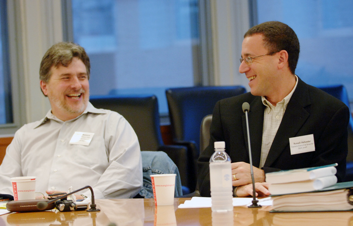 AD/SM/PA East Council Chair Dennis W. Mazzocco and DGA  Eastern Executive Director Russ Hollander at a New Members Orientation in New York in 2006