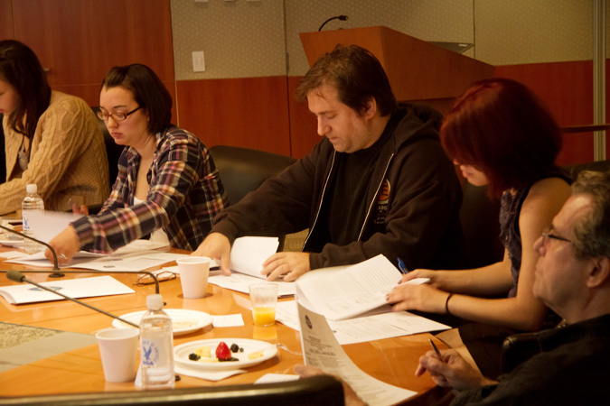 DGA AD/UPM members and DGA Trainees learn about the AFTRA TV background contracts.